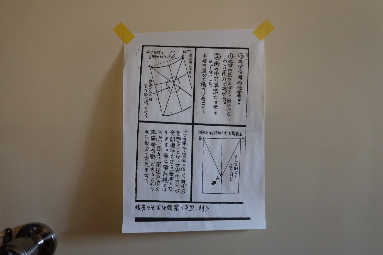 ~一つの凧を完全に作り、あげ方を知ることは、世界中の凧が全部理解できる基本となります。~