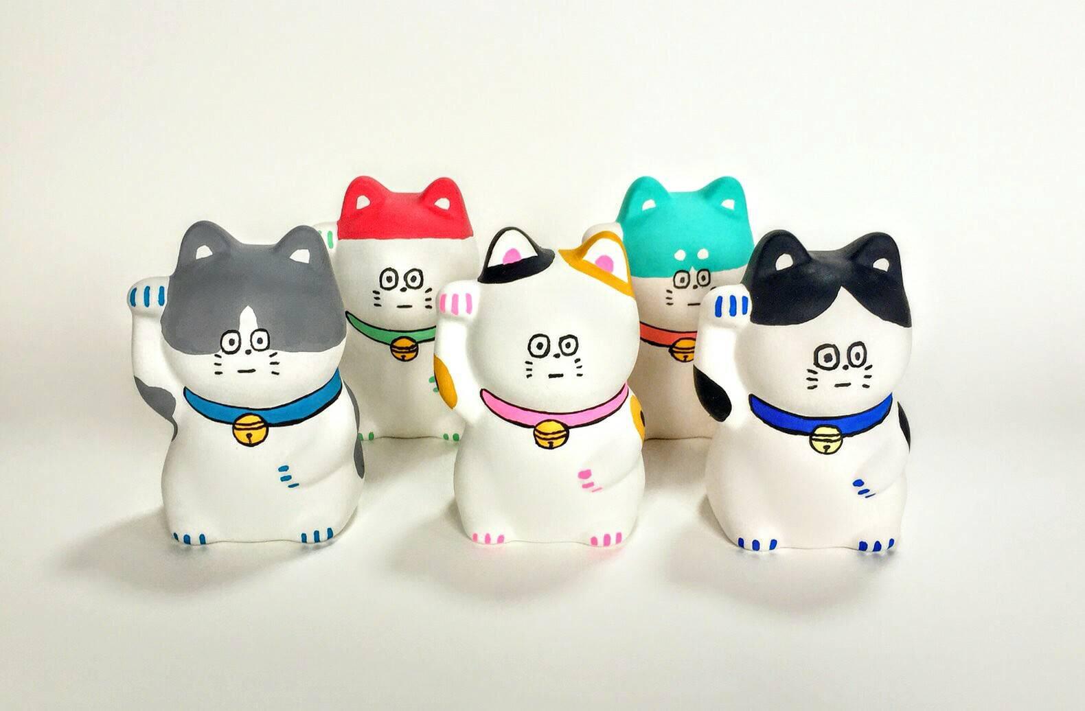 アーティスト・松岡マサタカさんとコレボレーションして制作したまねき猫
