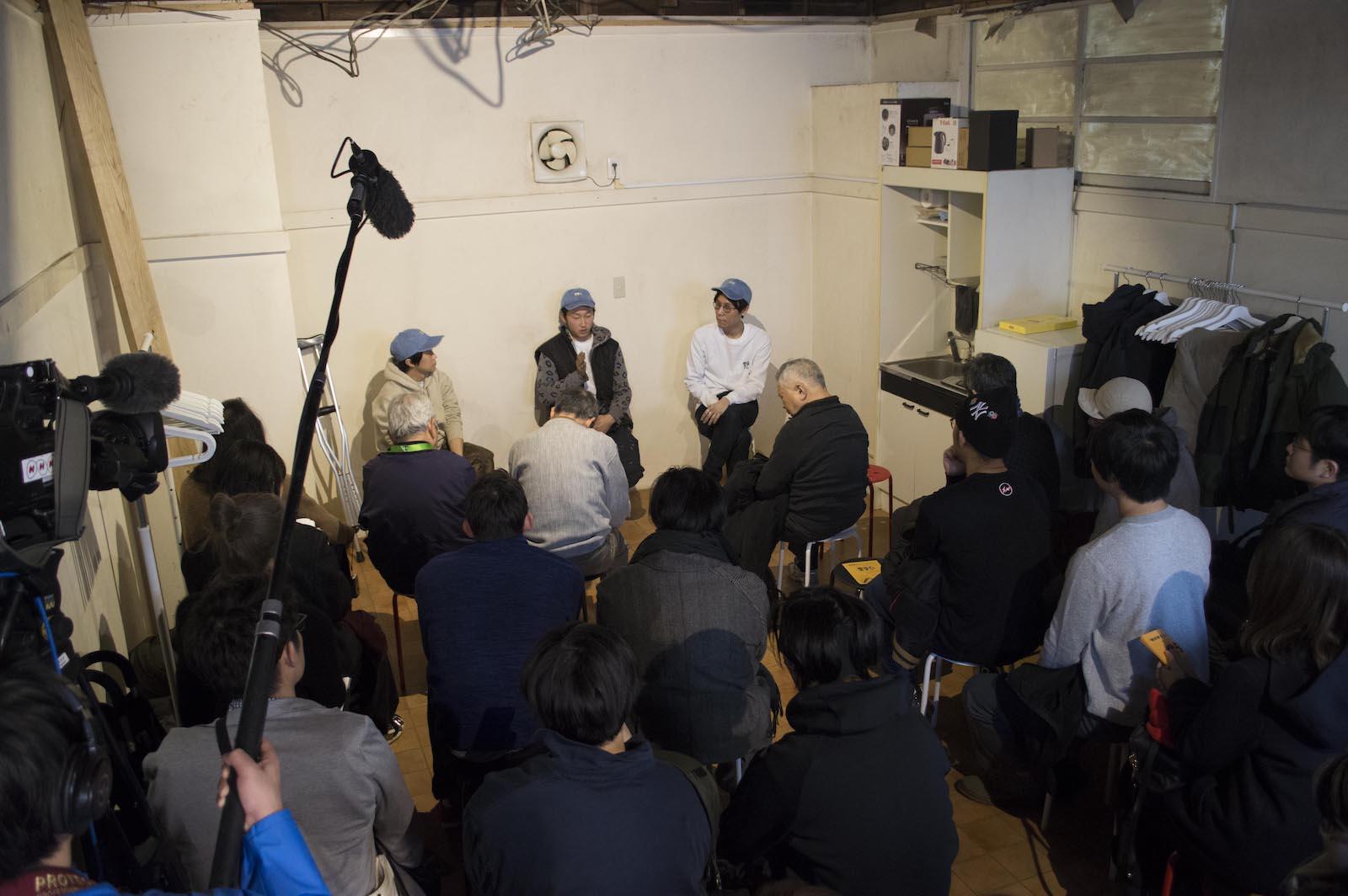オープニングイベントにはNHK福島のテレビクルーによる取材も入った。