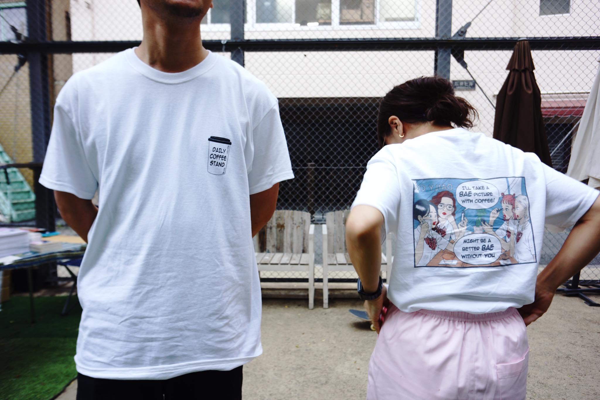 展示も行った漫画家・マキヒロチのイラストを掲載したTシャツ。