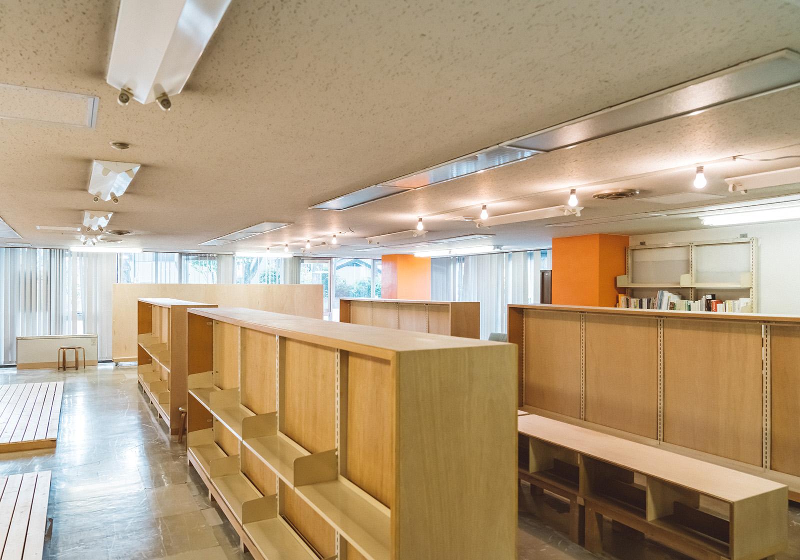 旧大宮図書館に設置されたSACP ROOM。取材時は制作進行中の状態。卒業した大学の後輩と設計を行っている