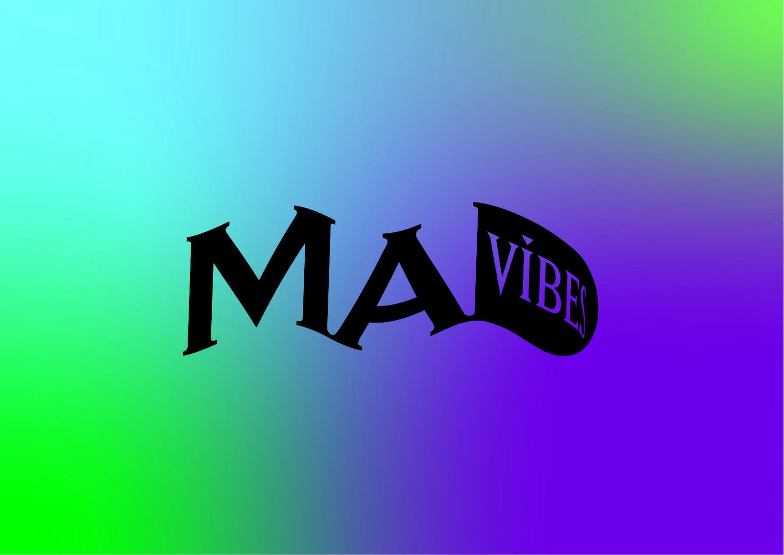 まちづ社が運営するイベントスペース「FANCLUB」でのプロジェクト「MADVIBES」のロゴ